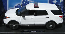 Motormax 1/18 Ford PI Utility Police SUV Blank White w/ Lightbar   CASE OF FOUR!