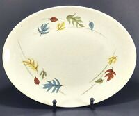 "Franciscan Gladding McBean Autumn Leaves 13 3/4"" Oval Serving Platter"