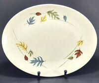 "Franciscan Gladding McBean Autumn Leaves 13 3/4"" Oval Serving Platter"