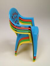 Children's Stackable Play & Study Chairs - 4 Brilliant Colors - Made in Italy