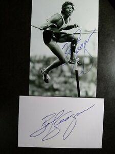 BOB SEAGREN Hand Signed Autograph 4X6 Photo & CARD - 1968 GOLD MEDAL POLE VAULT