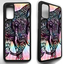 Elephant tie dye aztec pattern case cover for Samsung Galaxy s8 s9 S10 s20 plus