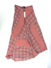 Sanctuary Clothing Womens Paisley Geometric Drape Skirt - Patchwork Peach Size S