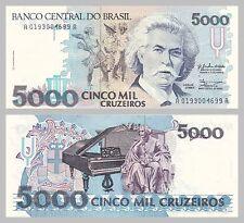 Brasilien / Brazil 5000 Cruzeiros 1990 p232a unz.