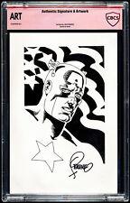 Jim Steranko Artwork of Captain America CBCS Authentic Art and Signature Marvel Comic Art