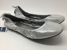 Maria Sharapova By Cole Haan Nike Air Silver Leather Ballet Flats Size US 10.5 B