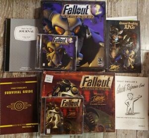 Fallout 1&2 Vintage Big Box RPG Game PC Windows with Manual CD-ROM 1997