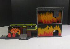 X2 Lot Vintage 2003 MicroMachines Super Stunt City Fire Building Playset Hasbro!