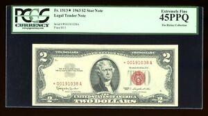 DBR 1963 $2 Legal STAR Fr. 1513* PCGS 45 PPQ Serial *00191038A