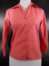 Beautiful Women's P2 - Petite Size 2 Talbots Peach Wrinkle Resistant LS Blouse