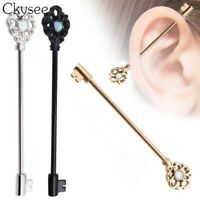 1Pcs/lot Stainless Steel Barbell Bar Scaffold Ear Earrings Body Piercing