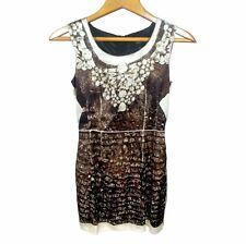 RARE! DOLCE & GABBANA D&G Women Brown Dress Size S 36 Sheath Sleeveless Dress S