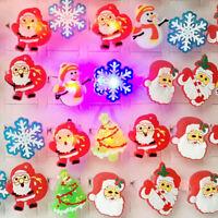 Kids LED Flashing Rings Light Up Glow Finger Ring Christmas Halloween Toys Gifts