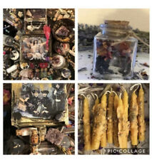Best Huge PAGAN GIFT LOT Onyx Agate Glass Cork Bottles Jewelry + Wicca 50pc