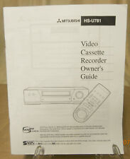 1998 Mitsubishi Hs-U781 Stereo Vhs Vcr Video Cassette Recorder Owner''s Guide