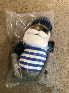 "Pillow Fort Captain Figural Throw Pillow Plush Pirate Sailor Doll 22"" x 5"" NWT"
