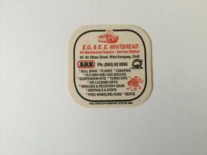Beer Coaster EG & EE Whitbread Mechanical Repairs West Kempsey  ARB Old Man Emu