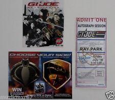 SDCC Comic Con 2013 GI Joe Retaliation Ray Park Signed DVD Cover, Ticket & Badge