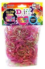 DIY ZUPA LOOMI BANDZ kit loom rubber band bracelets 600 bands/pack - Pick Color!