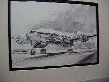 Delta Airlines Lockheed Constellation  From Delta HDQTERS Illustrated by artist