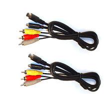 2X AV Cables for Sony DCR-SR82 DCR-SR85 DCR-SR100 DCR-SR200 DCR-SR220 DCR-SR300