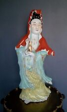 Masterpiece Chinese Ceramic / Porcelain Doll Guan-yin Figurine Statue 20 inches