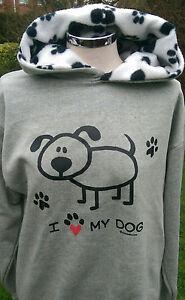 hoodies, sweatshirt nelsonashby  grey/paw print  i love my dog