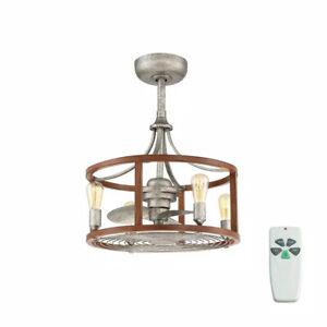 Home Decorators Bardeau Indoor/Outdoor 21.5 Galvanized Dual Mount Ceiling Fan