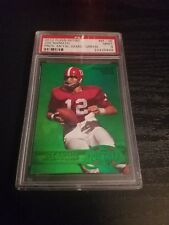 2012 Fleer Retro Joe Namath Precious Metal Gems Green Card #ed 6/10 & 3/10 PSA 9