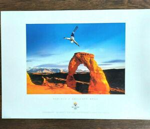 Salt Lake City 2002 Olympics SKI AERIALS / ARCHES Sports Series Poster #1