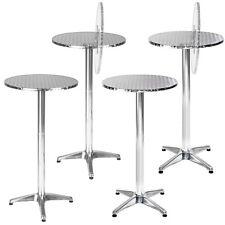 Table haute de bar aluminium bistrot restaurant jardin Ø 60cm hauteur réglable