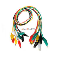 10PCS 50cm Double-ended Crocodile Clips Cable Alligator Jumper Wire Test Leads