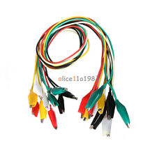 10pcs 50cm Double Ended Crocodile Clips Cable Alligator Jumper Wire Test Leads