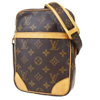 Auth LOUIS VUITTON Danube Shoulder Bag Monogram Leather Brown M45266 82MA913