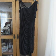 Oli, Black Rusched evening dress size 12 New
