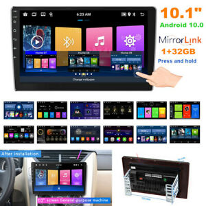 """10.1"""" Android 10.0 Double Din Car Stereo Radio Player GPS Navigation Bluetooth"""