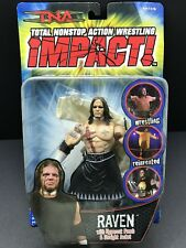 Raven (Long hair) TNA Impact Wrestling Action Figure - NEW Never Opened