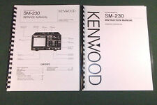 Kenwood SM-230 Service & Instruction Manuals - Card Stock Covers & 32 lb Paper