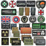 VINYL MORALE PATCH VELCRO PANEL RUBBER MILITARY AIRSOFT PAINTBALL VARIOUS