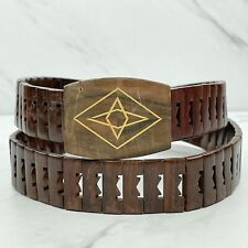 Brown Wood Wooden Belt One Size