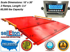 NEW 10' x 30' NTEP Legal for trade Axle Truck cargo Scale with 60,000 lbs