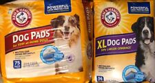Arm & Hammer Large Pet Training and Puppy Pads Lot XL 36ct & 75ct 22.5x22.5