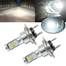 Pair H7 Led Headlight Bulbs Conversion Kit Super High/Low Beam 4000Lm 6000K 80W