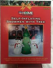 NEW self inflating Snowmen and christmas Tree Decoration - 5 Feet tall LEDs