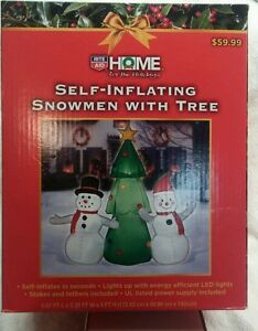 NEW self inflating Snowmen and Christmas Decoration - 5 Feet tall LEDs