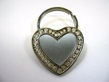 Collectible Keychain: Metal Heart Design Clear Jewel Border