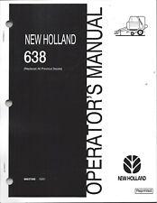 New Holland 638 Round Baler Operator Manual 86637560