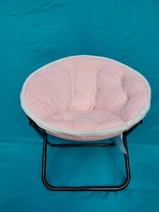 Pink Saucer Chair With White Trim (BRAND NEW) (ONLY ONE LEFT)