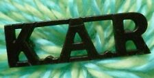 VINTAGE KAR Title Kings African Rifles Shoulder Title BRONZE Antique ORIGINAL