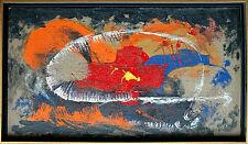 Dynamische Abstraktion Ölgemälde auf Rupfen 57 x 104 cm,  Jozsef Toth *1944